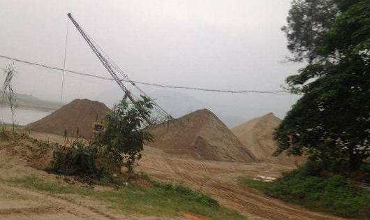 Bến cát của Hợp tác xã Lam Sơn Đại Thành