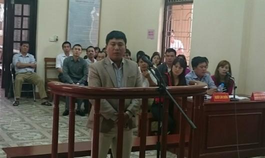 Bị cáo Chu Văn Phú tại phiên tòa xét xử ngày 20/2
