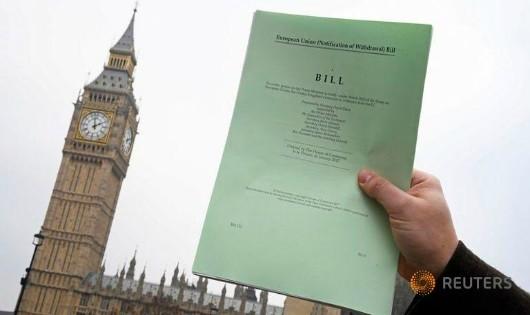 Một bản sao dự luật Brexit