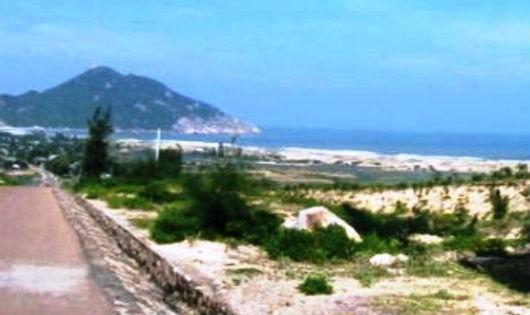 Đất thuộc phạm vi Dự án Khu Du lịch Vĩnh Hội đang bị bỏ hoang gây lãng phí
