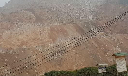 Cty TNHH Long Sơn bất chấp việc đã bị chính quyền thị xã Bỉm Sơn lập biên bản trong việc khai thác khoáng sản