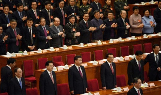 Các quan chức Trung Quốc trong một kỳ họp quốc hội. Ảnh AFP/Thanh niên