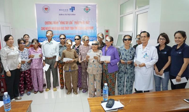 Masan tài trợ chương trình mổ đục thủy tinh thể và mổ tim cho người nghèo tỉnh Quảng Nam