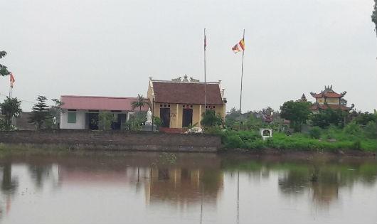 Toàn cảnh khu vực phục dựng chùa Tè