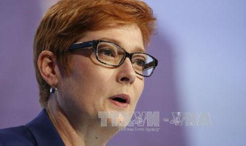 Bộ trưởng Quốc phòng Australia Marise Payne. Ảnh: EPA/TTXVN