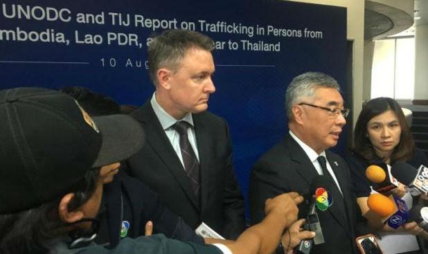 Đại diện UNODC tại buổi công bố báo cáo