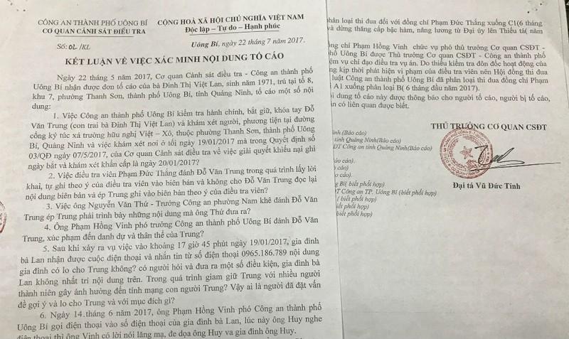 Phó thủ trưởng Cơ quan CSĐT Công an TP Uông Bí bị hạ thi đua