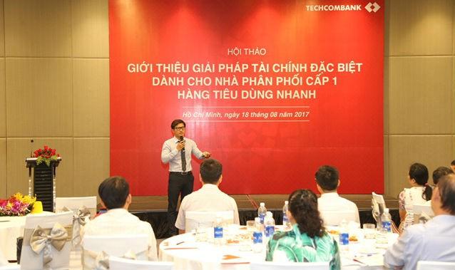 Techcombank giới thiệu giải pháp tài chính đặc biệt dành cho nhà phân phối cấp 1 hàng tiêu dùng nhanh