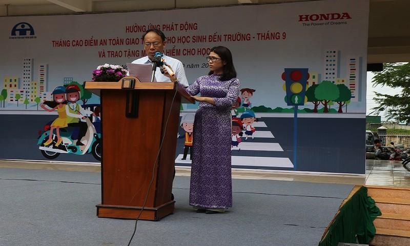 Ông Nguyễn Trọng Thái - Chánh văn phòng UBATGTQG phát biểu tại buổi lễ