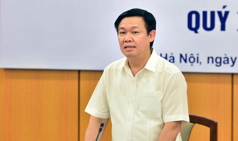 Phó Thủ tướng Vương Đình Huệ chủ trì cuộc họp. Ảnh VGP/Thành Chung