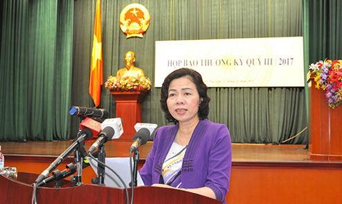 """Thứ trưởng Bộ Tài chính Vũ Thị Mai đã phát động cuộc thi """"Giải báo chí toàn quốc viết về ngành Tài chính"""". Ảnh: Đức Minh/Thời báo tài chính"""