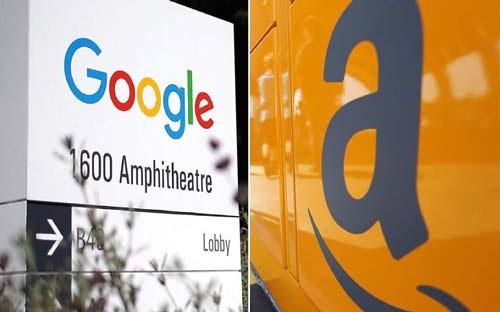 Google và Amazon được cho là sẽ khiến các ngân hàng truyền thống và thậm chí các hãng fintech phải dè chừng. Ảnh: CNBC