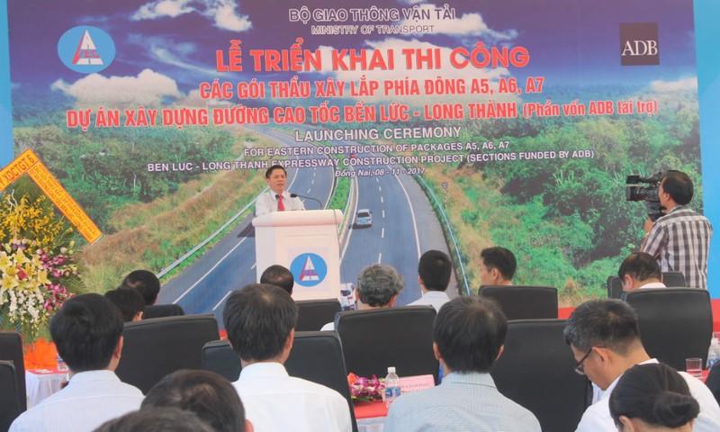 Lãnh đạo Bộ GTVT phát biểu tại buổi lễ