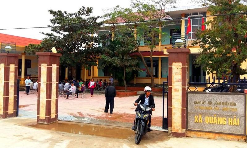 Trụ sở xã Quảng Hải – nơi ông Sơn đang giữ chức vụ Phó Bí thư thường trực