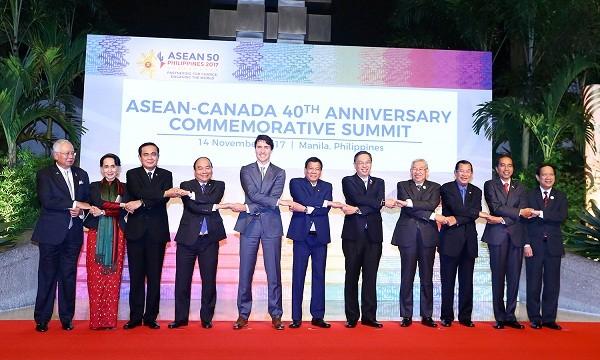 Thủ tướng dự HNCC kỷ niệm 40 năm quan hệ ASEAN-Canada. Ảnh: VGP