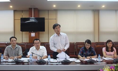 Thứ trưởng Bộ Tư pháp Nguyễn Khánh Ngọc kết luận buổi làm việc
