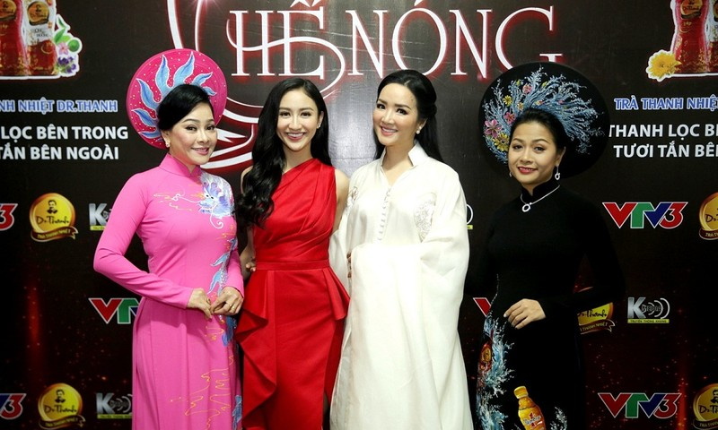 Ca sĩ Đông Đào, Hà Thu, Hoa hậu Đền Hùng Giáng My và nữ doanh nhân Trần Uyên Phương