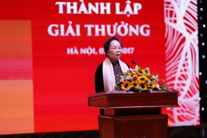 Nguyen Pho Chu tich nuoc Nguyen Thi Doan - Chu tich Quy KOVA phat bieu