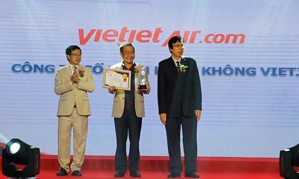 Vietjet nhận danh hiệu 'Hãng hàng không được yêu thích nhất 2017'