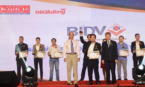 Sản phẩm BIDV đạt giải thưởng Tin và Dùng 2017