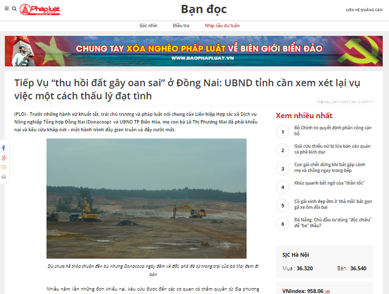 """Phản hồi """"Vụ thu hồi đất gây oan sai ở Đồng Nai"""": Chủ tịch UBND tỉnh chỉ đạo làm rõ vụ việc"""