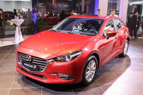 Mazda3 phiên bản nâng cấpgiữa chu kỳra mắt tại Việt Nam hồi tháng 5/2017.