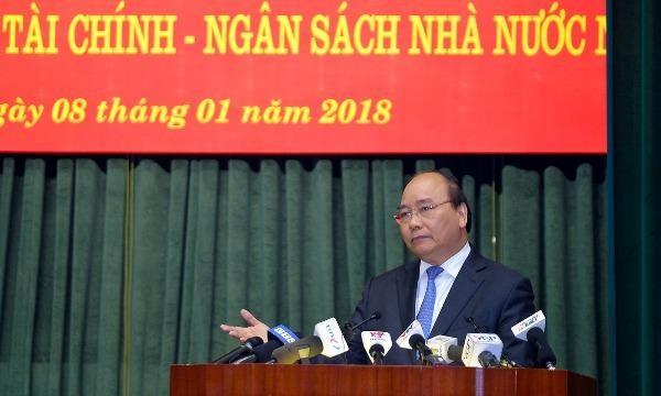 Thủ tướng yêu cầu chặt đứt nhóm lợi ích thao túng, hưởng lợi trên tài sản công. - Ảnh: VGP/Quang Hiếu