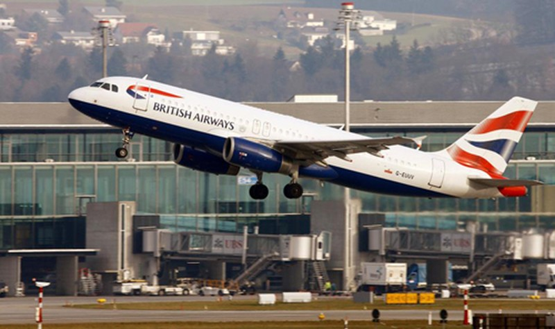 Một chiếc máy bay của hãng hàng không British Airways. Ảnh: Reuters