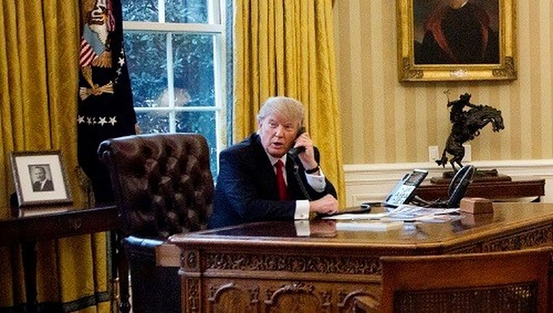 Tổng thống Mỹ Donald Trump điện đàm với người đồng cấp Thổ Nhĩ Kỳ về diễn biến mới tại Syria. Ảnh: Washington Examminer