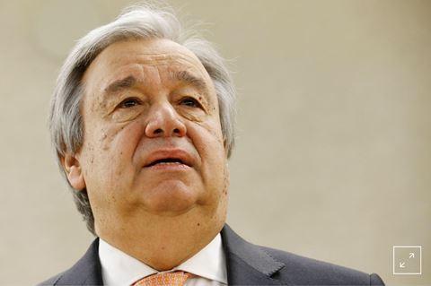 Tổng thư ký LHQ Antonio Guterres tại Hội nghị Giải trừ quân bị. Ảnh ANTĐ