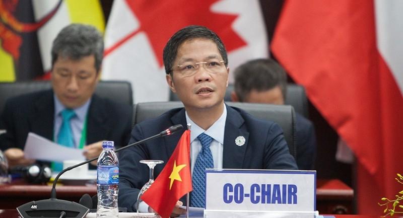 Bộ trưởng Bộ Công Thương Trần Tuấn Anh đồng chủ trì họp hội nghị về đàm phán TPP tại Tuần lễ Cấp cao APEC tháng 11/2017 tại Đà Nẵng