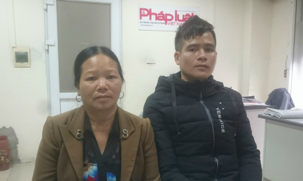 Anh Chinh trình bày sự việc với phóng viên Báo PLVN