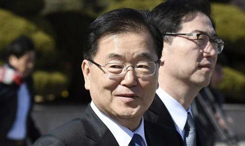Ông Chung Eui-yong. Ảnh: Reuters