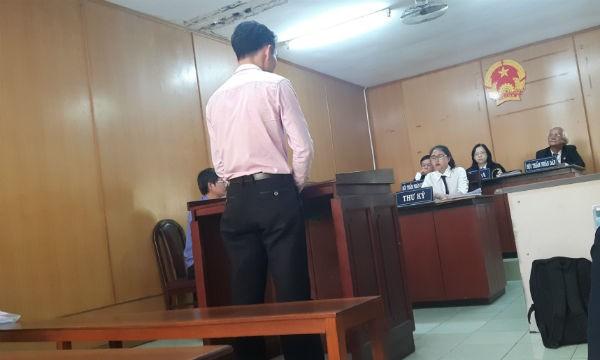 Bị cáo Huyền tại phiên tòa