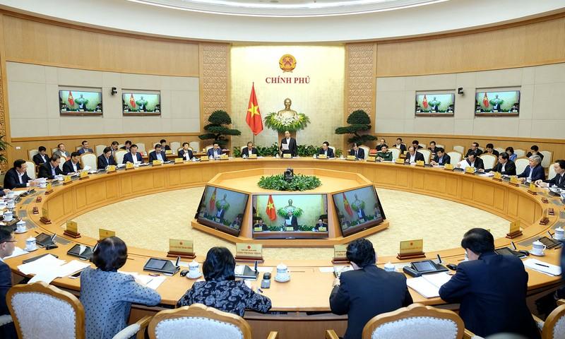 Thủ tướng chủ trì phiên họp Chính phủ thường kỳ ngày 1/3.  Ảnh: VGP
