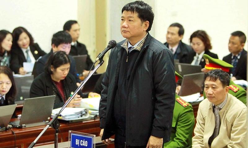 Bị cáo Đinh La Thăng trong một phiên tòa xét xử