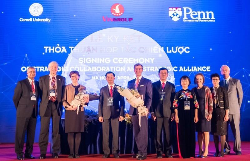 Vingroup ký kết thỏa thuận hợp tác chiến lược với Đại học Cornell và Đại học Pennsylvania