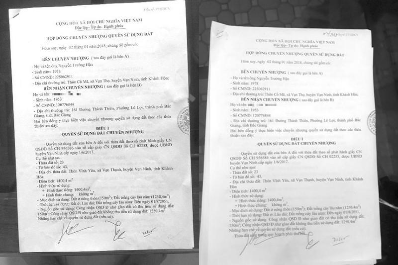 """Cùng một Hợp đồng nhưng bản lưu tại UBND xã Vạn Thạnh có """"9 chữ cốt tử"""" mà bản giao cho ông T không hề có"""