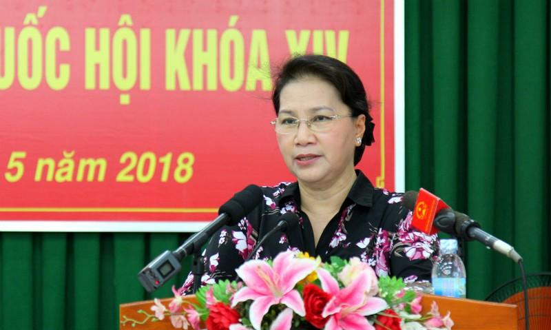 Chủ tịch Quốc hội Nguyễn Thị Kim Ngân tại buổi tiếp xúc