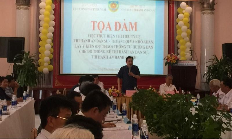 Phó Tổng cục trưởng Nguyễn Văn Sơn phát biểu khai mạc toạ đàm