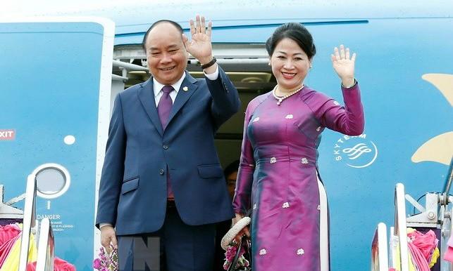 Thủ tướng Nguyễn Xuân Phúc và phu nhân. (Ảnh: Thống Nhất/TTXVN)