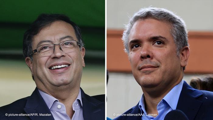 Hai ứng cử viên trong cuộc bầu cử Tổng thống vòng 2 ở Colombia (Ảnh: Deutsche Welle/dangcongsan.vn)