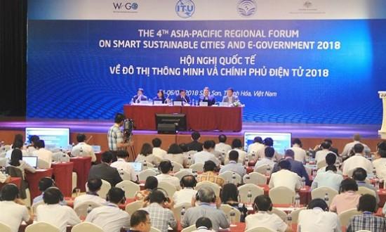 Hội nghị quốc tế về Đô thị thông minh và Chính phủ điện tử 2018. (Ảnh:  Lê Đồng - Lê Hợi)
