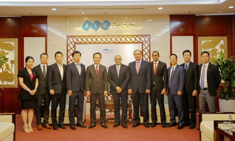Đại diện lãnh đạo Tập đoàn FLC và Credit Suisse AG
