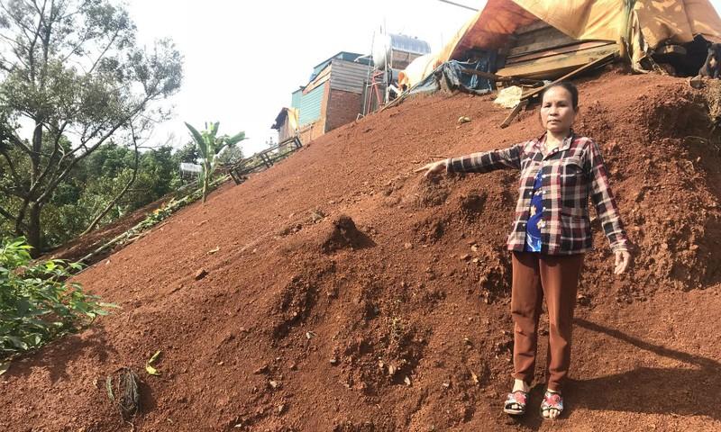Bà Minh cho rằng chính quyền địa phương đã cố tình xác định sai loại đất của gia đình mình