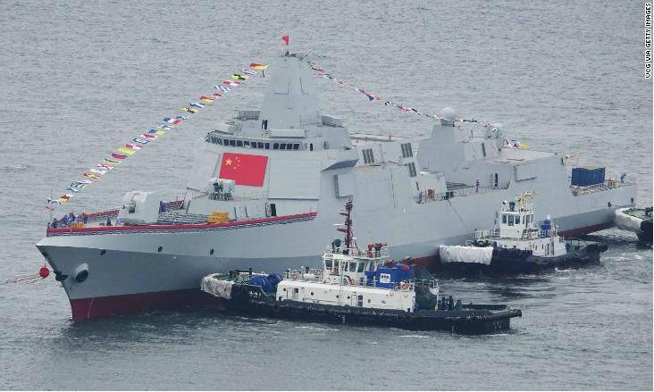 Trung Quốc cho hạ thủy 2 tàu khu trục Type-055