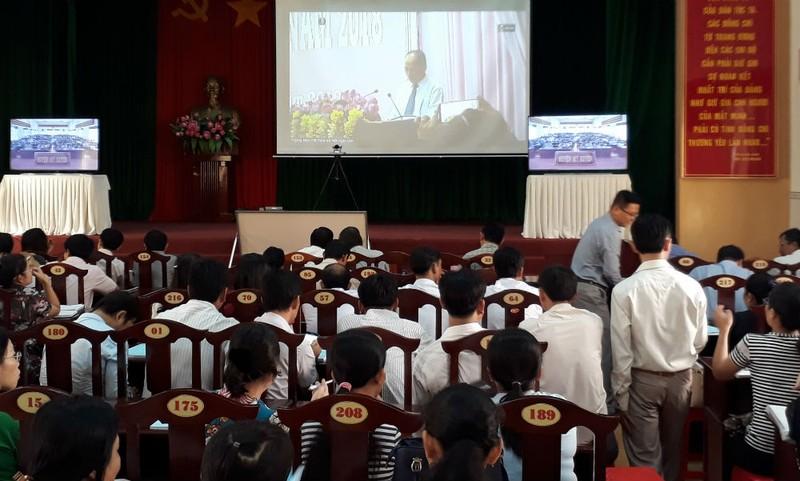 Lớp học tại điểm cầu huyện Mỹ Xuyên, tỉnh Sóc Trăng