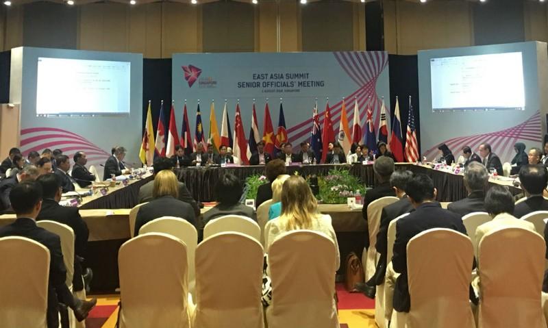 Quang cảnh Hội nghị quan chức cao cấp EAS