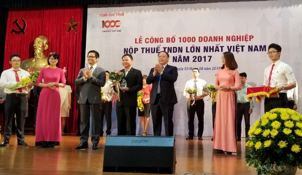 FrieslandCampina Việt Nam nằm trong top 100 doanh nghiệp xuất sắc đóng góp ngân sách nhà nước
