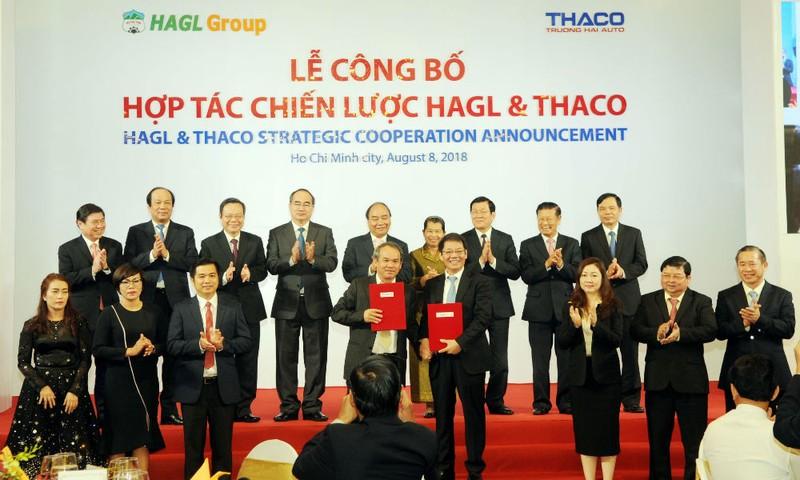 Lễ công bố hợp tác chiến lược giữa HAGL và Thaco